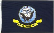3X5 U.S. Navy Emblem Ship Nylon Flag 3'x5' Banner grommets ( Made in Usa )