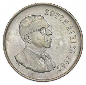 SILVER - WORLD Coin - 1969 South Africa 1 Rand - World Silver Coin *027
