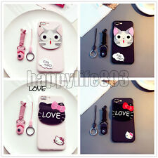 Cute Cartoon Japanese Anime 3D Cosmetic Mirror Soft Case For iPhone 7 6s 7 Plus
