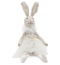 "Bella Lux Easter Bunny Ballerina Doll Shelf Sitter Decor Feather Lace 23"" NEW"