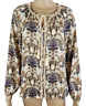 Anthropologie Meadow Rue Blouse Womens XS Peasant Top Floral Paisley