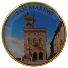 San Marino Commemorative Coin Regierungspalast Gold Plated Color Enamel RAR