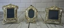 Silvertone  Metal Western 3 Piece Picture FRAMES Holds Photo