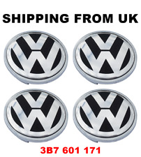 4x ALLOY WHEEL CENTRE HUB CAPS 66MM 3B7601171 VW GOLF MK5 PLUS MK6 MK7 SPORTSVAN