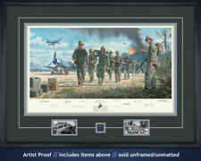 Gil Cohen art print w/ Eugene B. Sledge is autographed by heroes in The Pacific!
