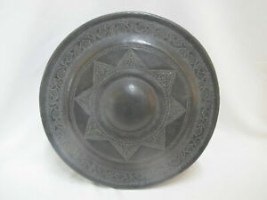 Large Antique STAR Etched BRONZE Chinese Gong