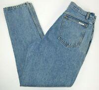 Vtg Bill Blass Women's High Waist Tapered Leg Acid Washed Mom Blue Jeans 14
