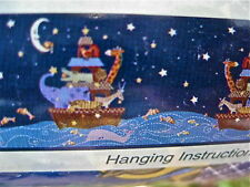 KidsLine Starry Night Noah's Ark Wallpaper Border Nautical Double Roll 30' New