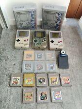 Game Boy Lot 3 Consoles + 14 Games + Camera + 2 Replica Boxes #ebayheroes
