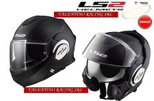 LS2 FF399 casco VALIANT SINGLE MONO MODULARE BLACK MATT NERO OPACO MIS. XS NEW