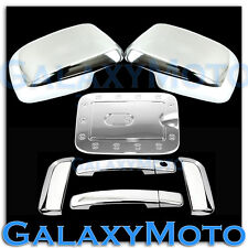 Chrome Mirror+4 Door Handle+GAS Fuel Door Trim Cover for 08-12 Nissan PATHFINDER