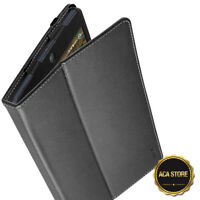 """Leather Case For Alcatel A30 8"""" Tablet 9024W 2017 Cover Black"""