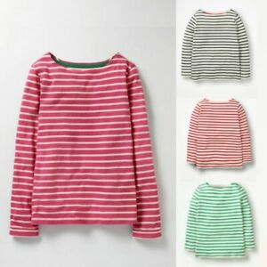 Mini Boden Breton Striped Long Sleeve T-Shirt Top 2-3 up to 15-16 Years