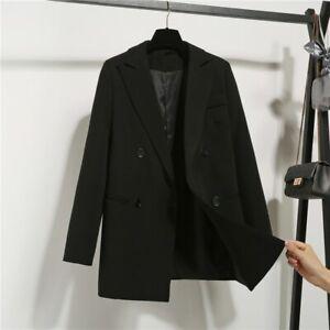 Oversized Women Blazers Office Lady Jackets Casual Coat Outwear Double-breasted