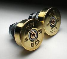 12 Gauge Shotgun Brass Bullet Head License Plate Bolts Motorcycle Harley Honda