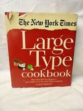 Vintage New York Times Cook Book Cooking Food & Wine Illustrated Large Type 1968