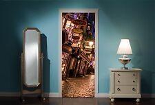 PORTA MURALE Harry Potter di Diagon Alley Vista Adesivi Da Parete Decalcomania Carta Da Parati 308