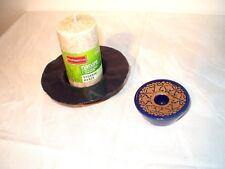 Schönes Set: 2 Kerzenständer aus Keramik, blau, in top-Zustand!