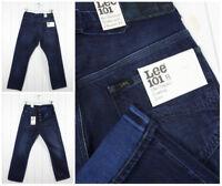 NUEVO LEE 101b ORILLO Jeans Cincha Espalda Vaqueros Vintage Regulares Recta W32