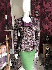 Catherine Andre Carte Multi Laine & Alpaca Mix Knit Veste Taille M