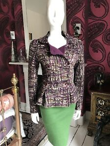 Catherine Andre MAP Multi Wool & Alpaca Mix Knit Jacket Size M