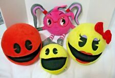 Pac-Man Lot  Licensed Plush Stuffed Toy Mrs. Pac-Man Cylindria and more!