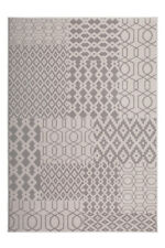 Pattern Mix Flat Woven Carpet Round Circle Stephen Zack Pattern Multi Taupe 160cm X 230cm