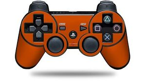 Skin for PS3 Controller Solids Collection Burnt Orange CONTROLLER NOT INCLUDED