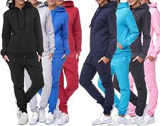 Jogginganzug Sportanzug Trainingsanzug Fitness Hoodie Hose Basic Einfarbig Damen