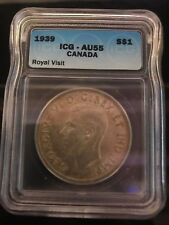 1939 Canadian $1 Coin AU55 (C291)