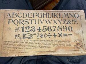 Vintage Sign Marker box set Universal Rubber stamps in original box NO 150