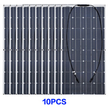 10pcs 100W 16V Flexible Solar Panel for Boat Home Caravan 12V/24V Battery Charge