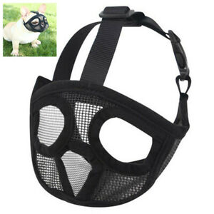 Bulldogs Mesh Dog Muzzle for Short Snout Dog flat face Nose Dog Breed Dogs XS-L