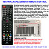 REPLACEMENT TECHNIKA LCD/LED TV REMOTE CONTROL WORKS FOR MANY LCD/LED MODELS