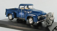 ROAD CHAMPS 1956 Ford F-100 w/Engine (Blue) 1/43 Scale Diecast Model NEW RARE!