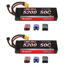 Venom 50C 3S 5200mAh 11.1V LiPo Battery with UNI Plug x2 Packs
