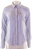 JACK WILLS Womens Shirt UK 12 Medium Blue Striped Cotton  GH02