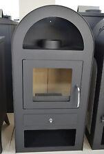 Estufa de leña encimera Conducto humos 9-12 KW chimenea madera/Carbón Arco FINO