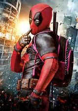 Deadpool Poster Movie Marvel Superhero, Large Quality FREE P+P, CHOOSE YOUR SIZE
