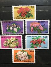 PHILIPPINES 1979 MUSSAENDAS FLOWERS Complete Set 6 SPECIMEN Stamps NICE