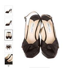 manolo blahnik 40 Black Satin Shoe Sandal