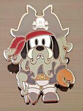 Disney Pin GOOFY Davy Jones Pirates of the Caribbean Peg Leg Skull Crossbones