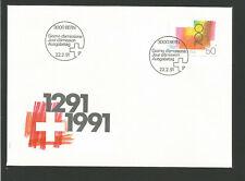Suisse FDC 1991 oeuvre originale Croix suisse oblit. Bern /L3306