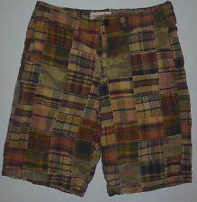 Mens 33 American Eagle AEO Longer Length Madras Shorts Relaxed Fit