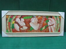 Lotto 22 - QUADRO con pittura olio su legno 30x75  esemplare unico