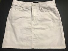 Gap White Denim Iconic Mini Skirt Size Small Like New!