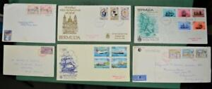 BERMUDA STAMPS COVERS CARDS SELECTION OF 6   (A13)