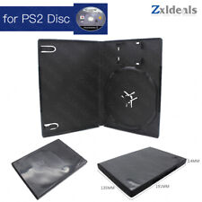Replacement Case for PS2 Game Disc Spare Black Game Playstation 2 Box Single CD