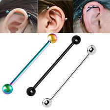 1X Industrial Piercing Bar Scaffold Straight Barbell Ear Cartilage Piercing Bars