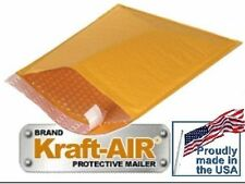 """#DVD BUBBLE MAILER Kraft PADDED ENVELOPES 6.5"""" X 9"""" 100 Pieces Made In The USA"""